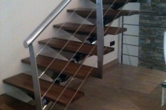 Stair railing indoor