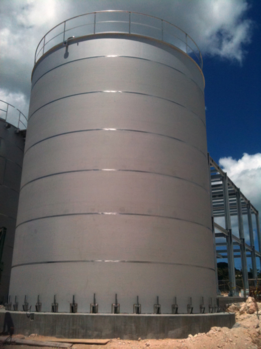 Stainless steel 600 cubic metres tank (Virgin Islands)