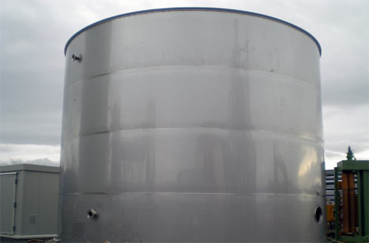 Stainless steel tank for wastewater treatment (Scotland)