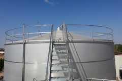 Access stairway to the top of the tank