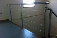 Stair railing indoor
