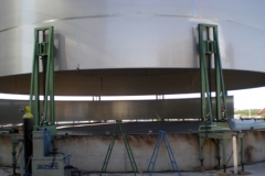2000 cubic metres stainless steel tank in process of manufacture