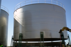 In-situ 2000 cubic metres stainless steel tank in process of manufacture
