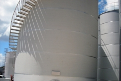 Spiral staircase in stainless steel tank (Virgin Islands)