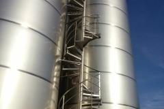 Escalera de caracol en obra
