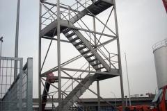 Structure industrielle d'escalier d'accès