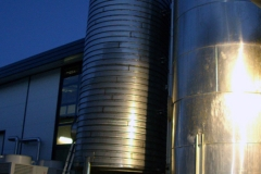 Mineral stainless steel tank ready to insulate