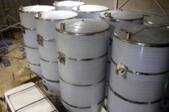 Depósitos acabado brillo espejo para almazara de aceite